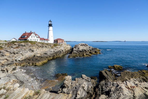 Cape Elizabeth - Portland (USA) stock photo