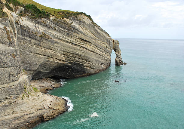 Cape Farewell, New Zealand stock photo