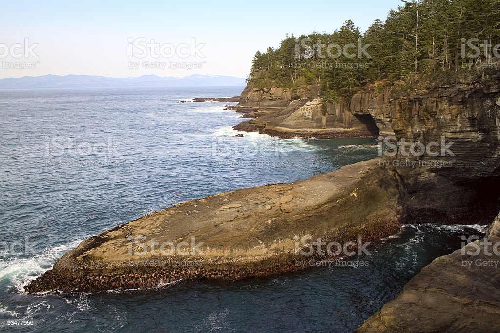 Cape Flattery, Washington Rocks and Caves stock photo