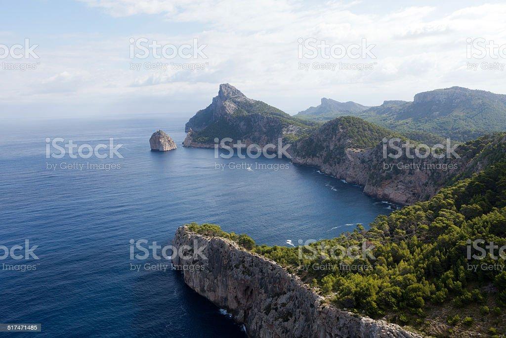 Cape Formentor on Majorca stock photo