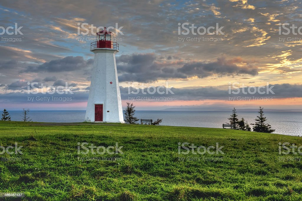 Cape George Lighthouse stock photo