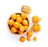 Cape Gooseberry isolated on white background top view