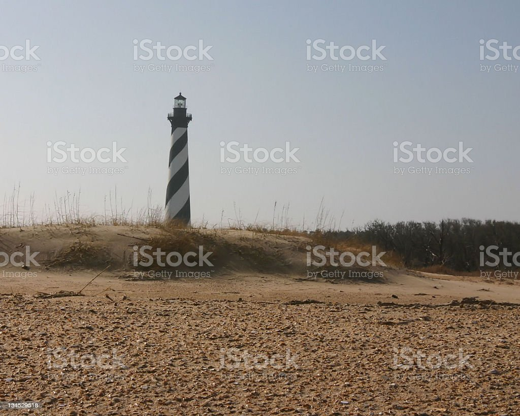 Cape Hatteras Lighthouse and Beach stock photo