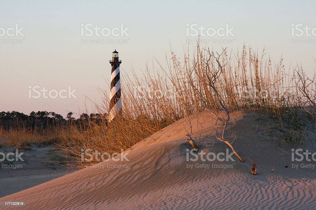 Cape Hatteras Lighthouse, Outer Banks royalty-free stock photo