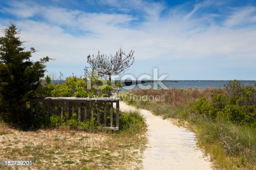 Beach view at Cape Henlopen State Park, Delaware.