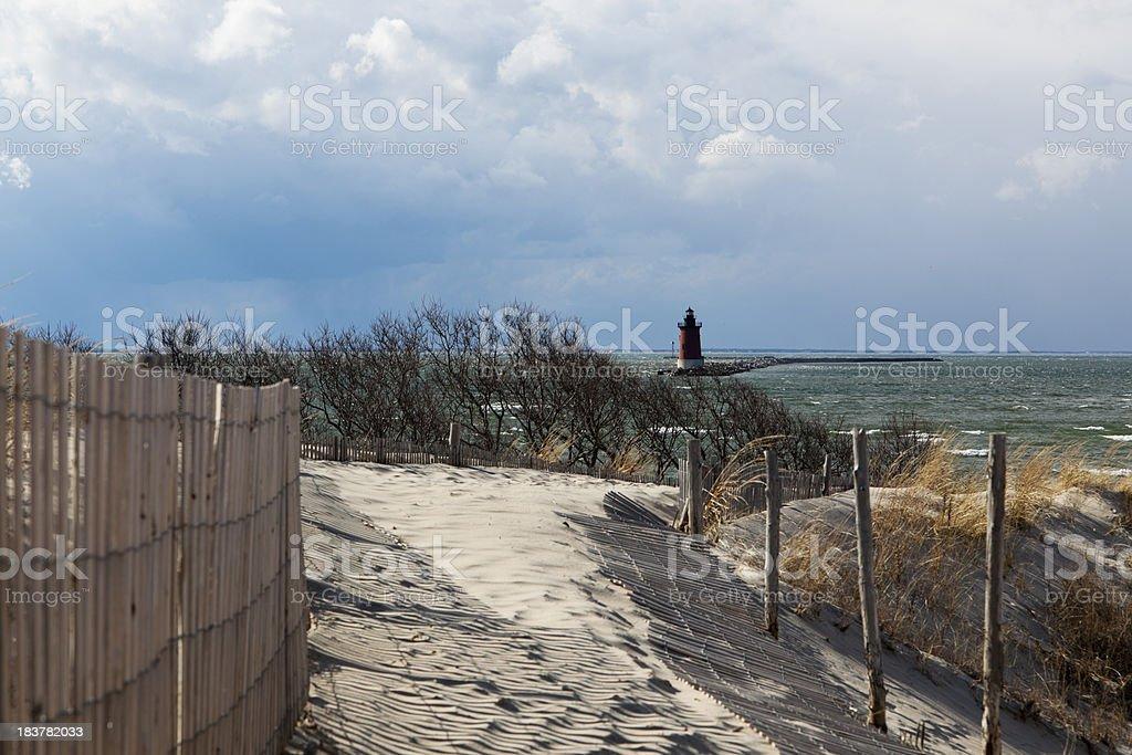 Cape Henlopen Scene stock photo