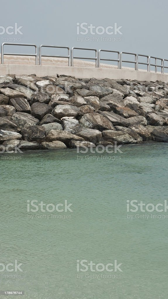 Cape in the sea royalty-free stock photo