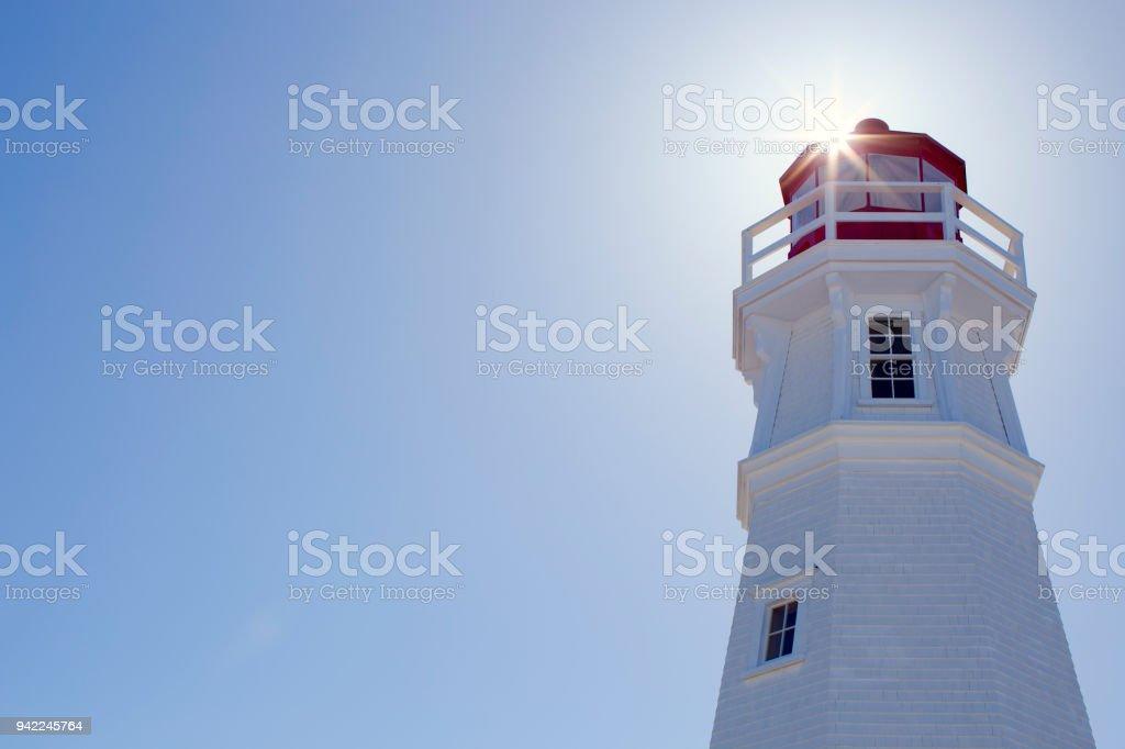 Cape Jourimain Lighthouse stock photo