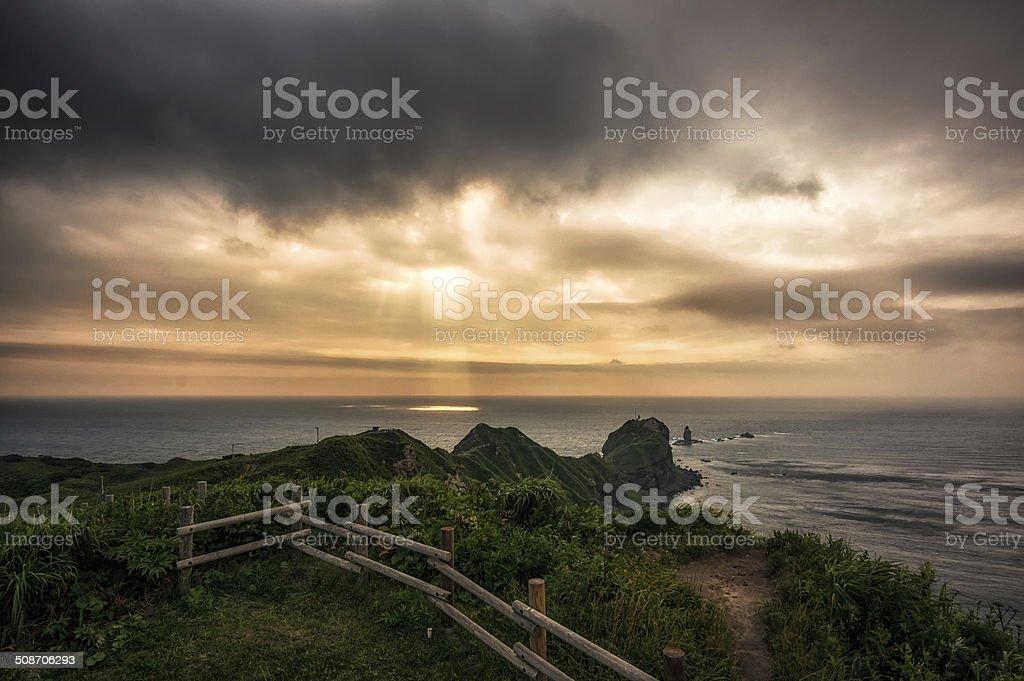 Cape Kamui in Shakotan royalty-free stock photo