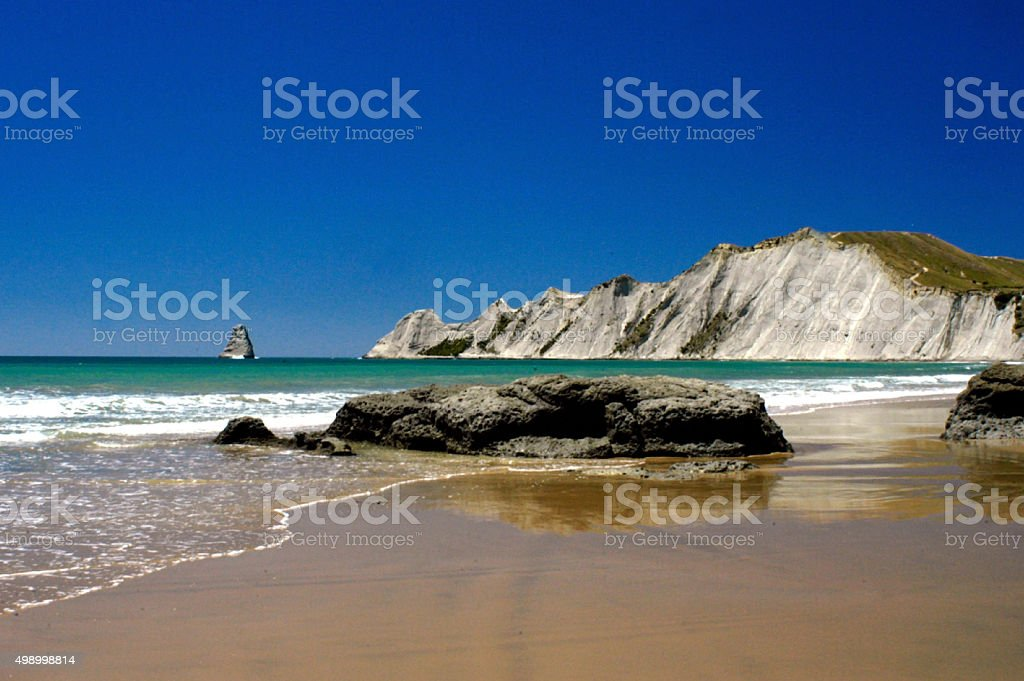 Cape Kidnappers New Zealand stock photo