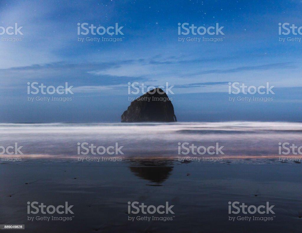 Cape Kiwanda Beach at Night stock photo