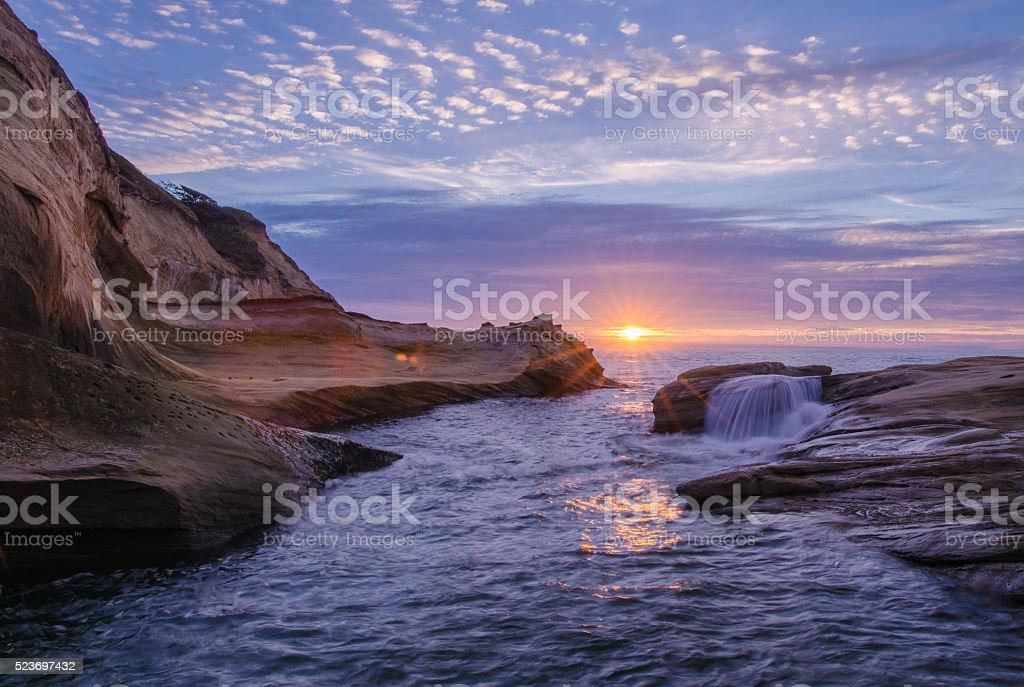 Cape Kiwanda Sunset stock photo