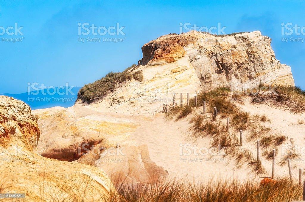 Cape Kiwanda's Sandstone Cliffs stock photo