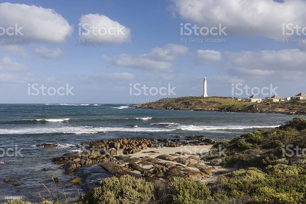 Cape Leeuwin lighthouse in Western Australia stock photo
