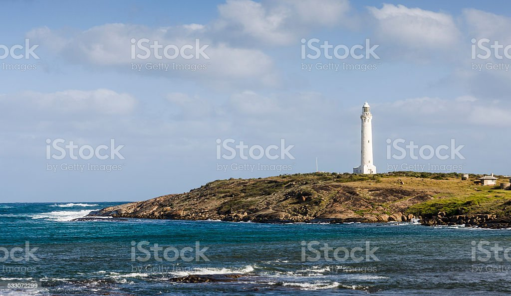 Cape Leeuwin lighthouse in Western Australia stock photo