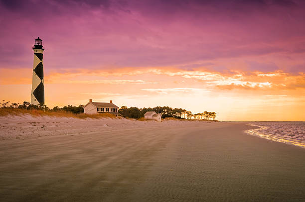 Cape Lookout at Sunset stock photo