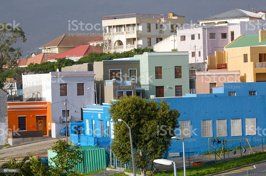 Cape Malay Houses stock photo