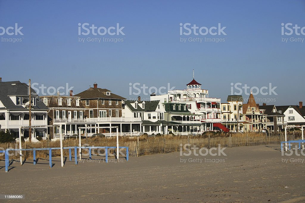 Cape May Beach Front stock photo