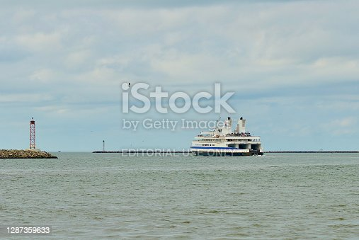 "istock Cape May-Lewes Ferry ""Delaware"" Departing Lewes Terminal 1287359633"
