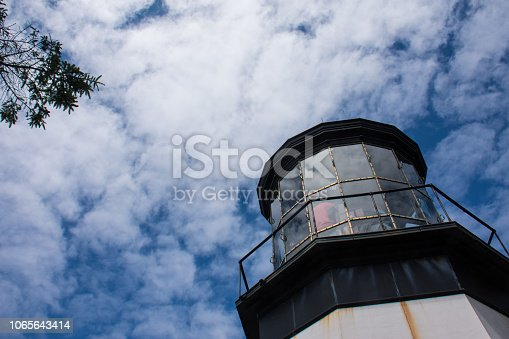 Cape Meares Lighthouse in Oregon on a sunny day