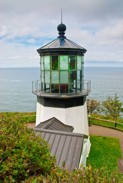 Cape Meares Lighthouse stock photo