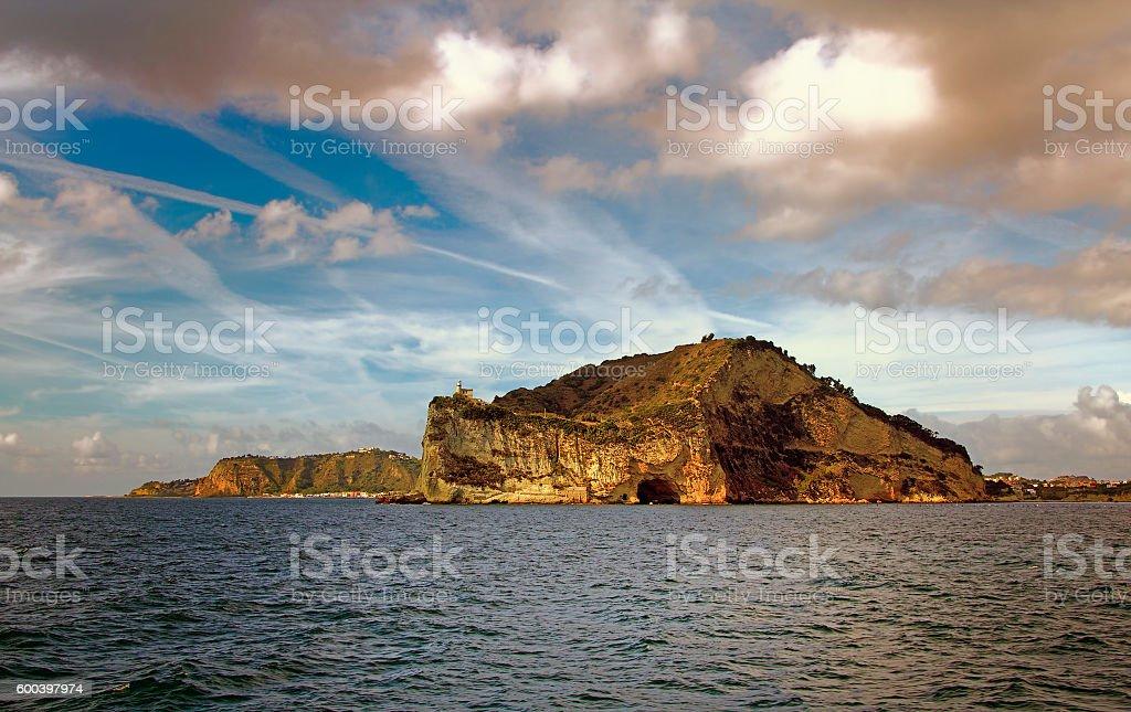 Cape Miseno, Bay of Naples, Italy stock photo