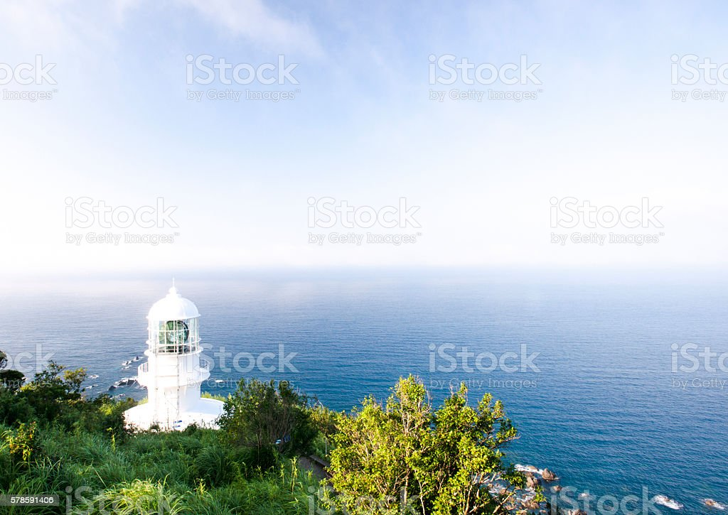 Cape Muroto-misaki Lighthouse stock photo