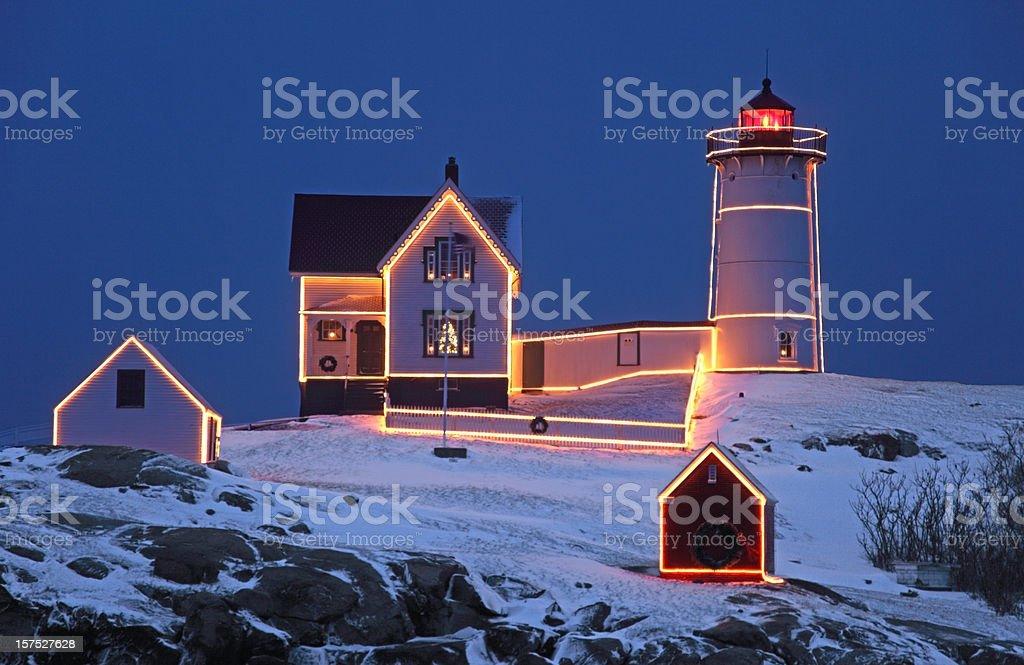 Cape Neddick Lighthouse royalty-free stock photo