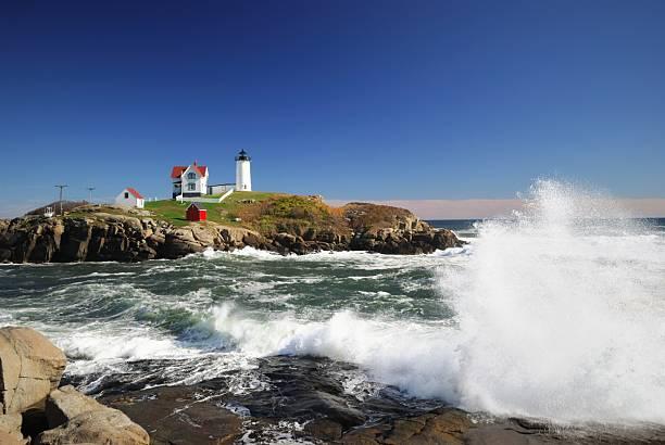 Cape Neddick maine stock photo
