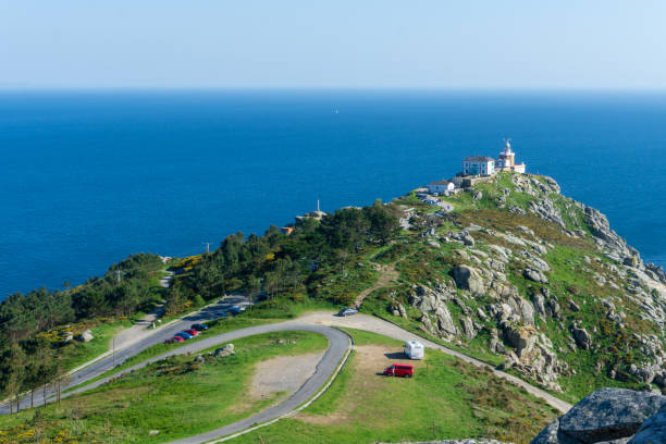 Cape of Finisterre, landscape in Galicia, Spain, on a day in spring stock photo