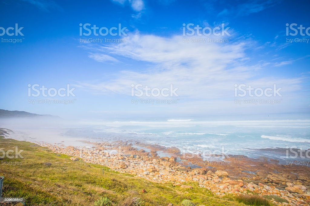 Cape of Good Hope Landscapes of the Cape Point , South Africa Aerial View Stock Photo