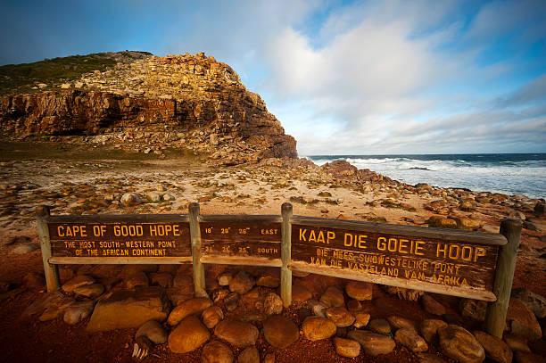 Cape of Good Hope sign, Cape Peninsula, South Africa stock photo