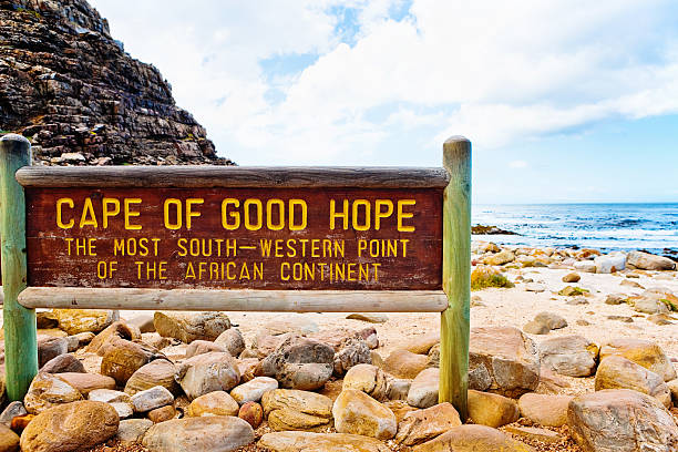 cape of good hope sign, south africa - cape peninsula stock pictures, royalty-free photos & images