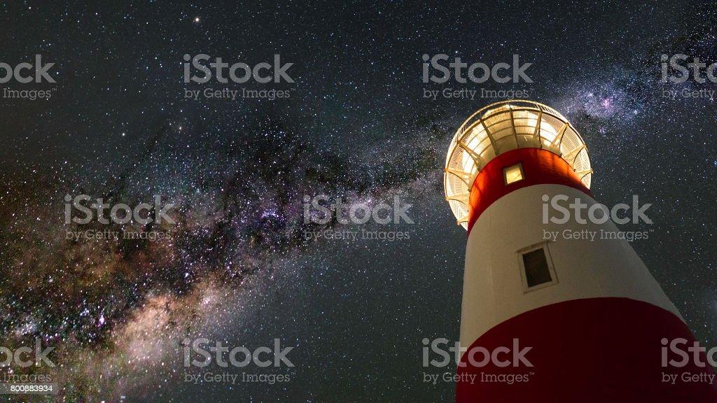 Cape Palliser Milky Way stock photo