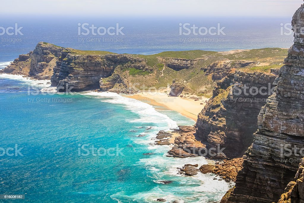 Cape Point aerial view stock photo