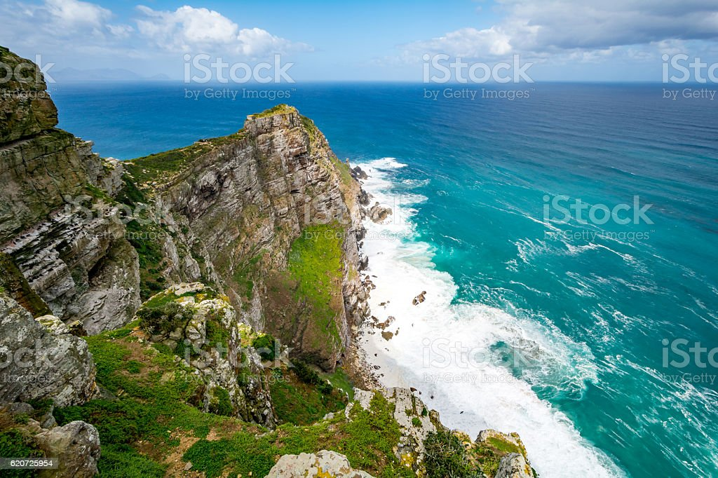 Cape Point at Cape of good Hope, South Africa stock photo