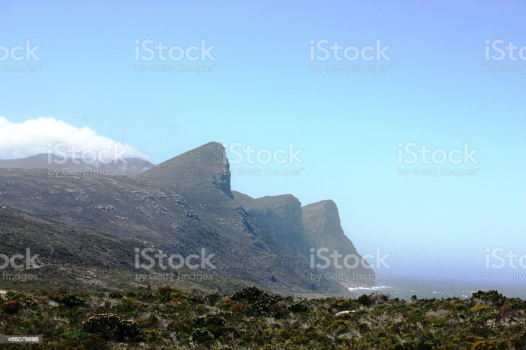 Cape Point, Cape of Good Hope, South Africa, blue sky stock photo
