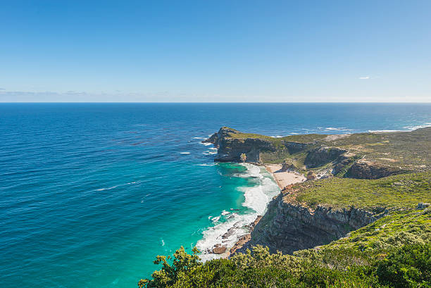 Cape Point is the most South Western Point of Africa stock photo