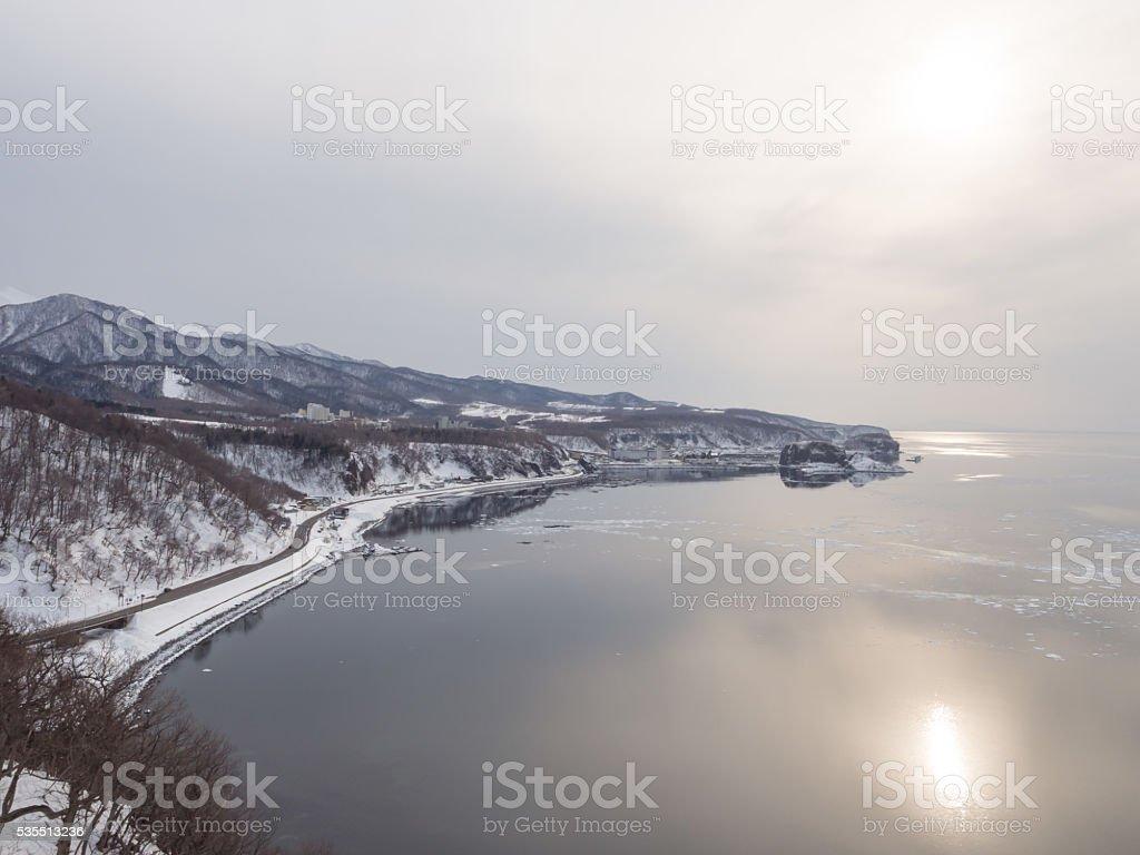 Cape Puyuni, Utoro Town, Shiretoko, Hokkaido, Japan stock photo