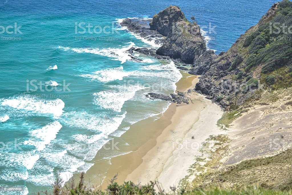 Cape Reinga Beach, New Zealand stock photo