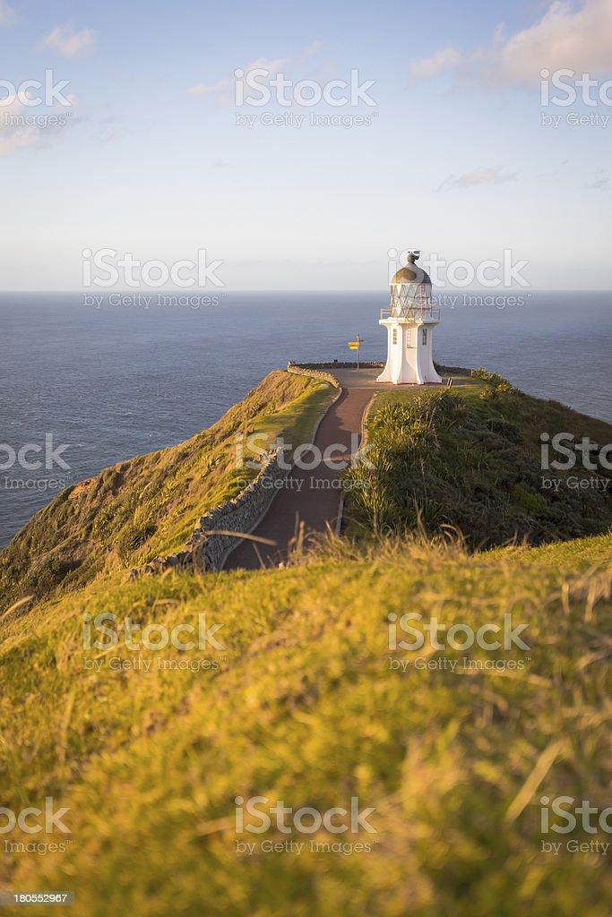 Cape Reinga in New Zealand stock photo