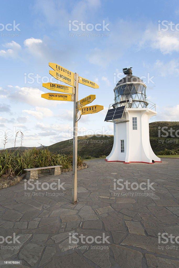 Cape Reinga Lighthouse in New Zealand stock photo