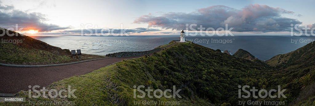 Cape Reinga lighthouse, New Zealand stock photo