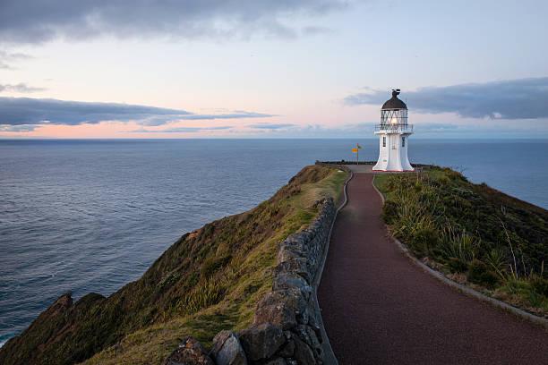 cape reinga lighthouse, new zealand - 태즈먼 해 뉴스 사진 이미지
