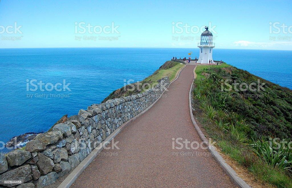 Cape Reinga lighthouse stock photo