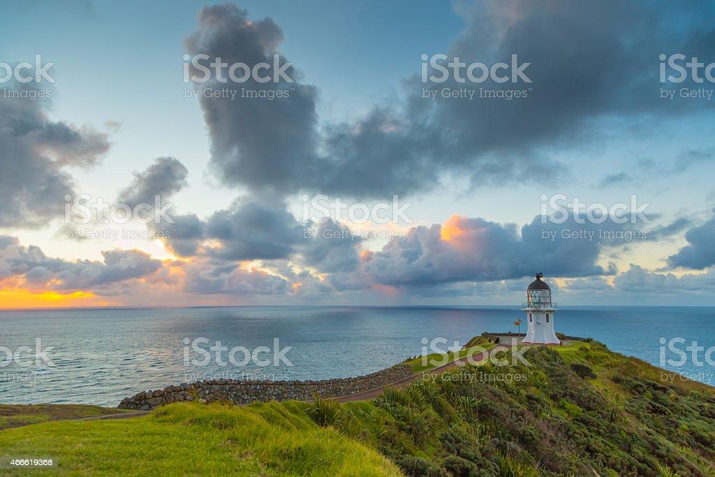 Cape Reinga Sunset stock photo