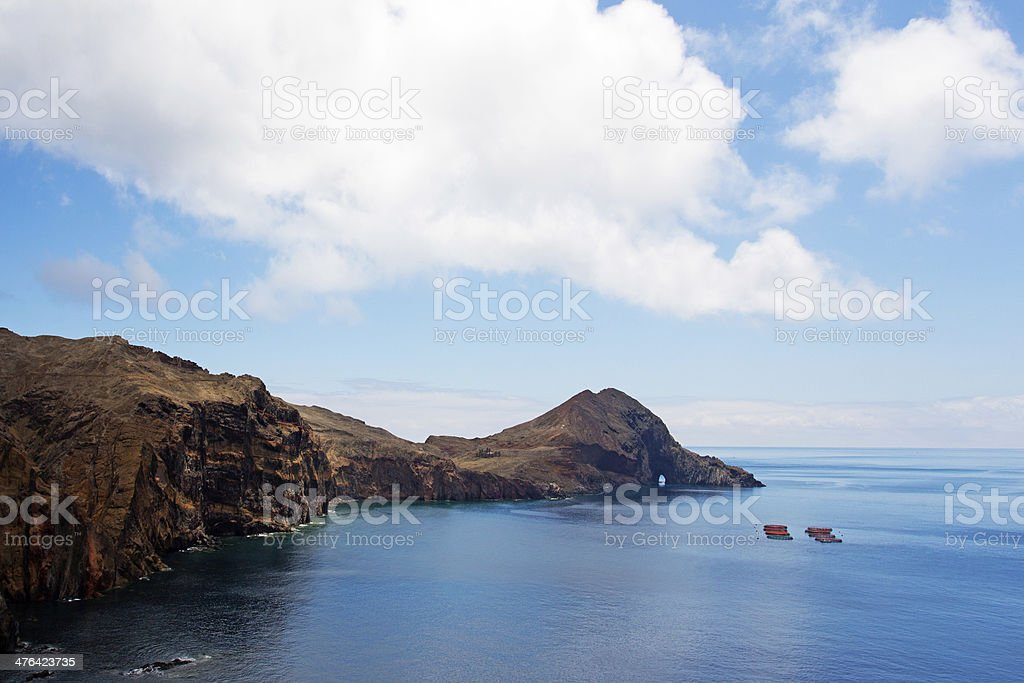 Cape San Lorenzo on island of Madeira royalty-free stock photo