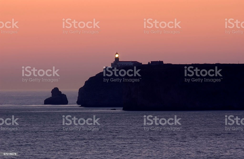 Cape Sao Vicente at sunset royalty-free stock photo