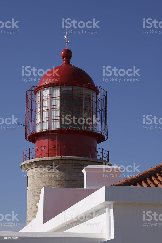 Cape Sao Vincente lighthouse Algarve Portugal royalty-free stock photo