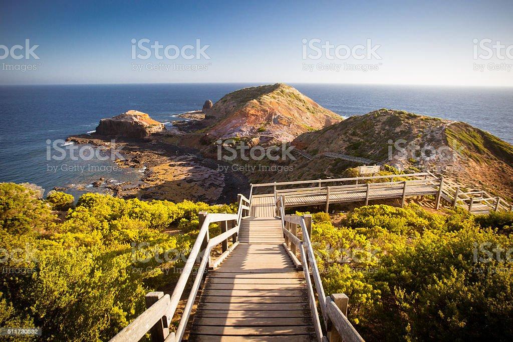 Cape Schanck Boardwalk stock photo